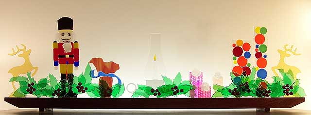 Holiday Mantlepiece Glasscape Fine Art